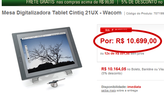 tablet mesa digitalizadora Cintiq