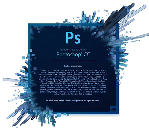 Photoshop CC splash screen