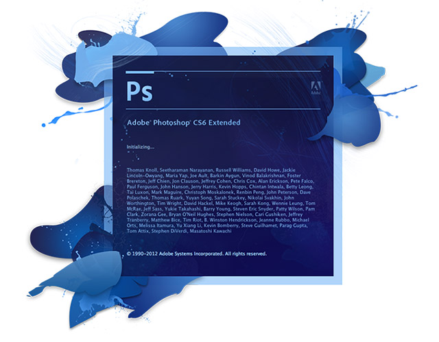 Photoshop CS6 splash screen