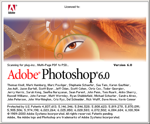 Photoshop 6 splash