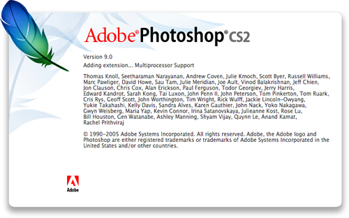 Photoshop CS2 splash