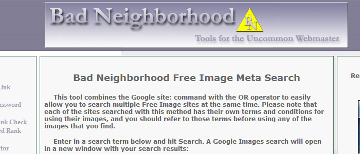 Bad Neighboorhood Tool homepage
