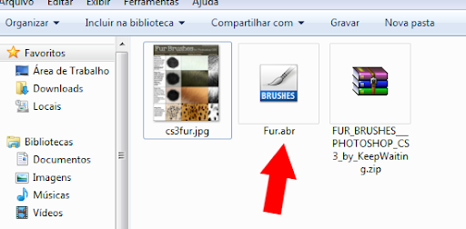 arquivo de pincel Photoshop