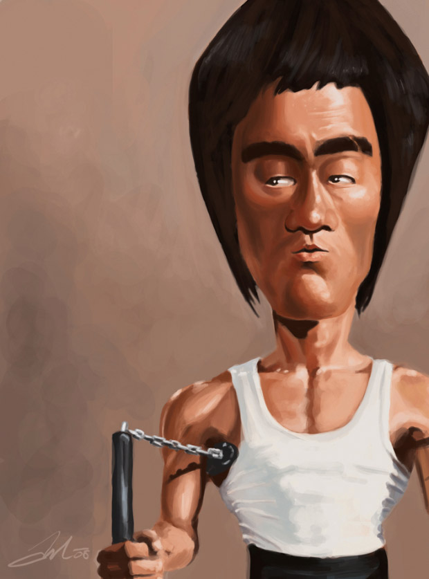 Caricatura digital - Bruce Lee