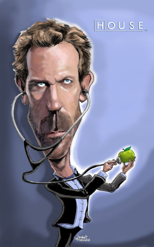 Caricatura digital - Hugh Laurie