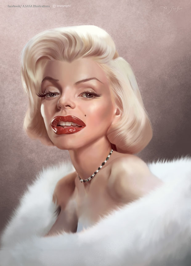 Caricatura digital - Marilyn Monroe