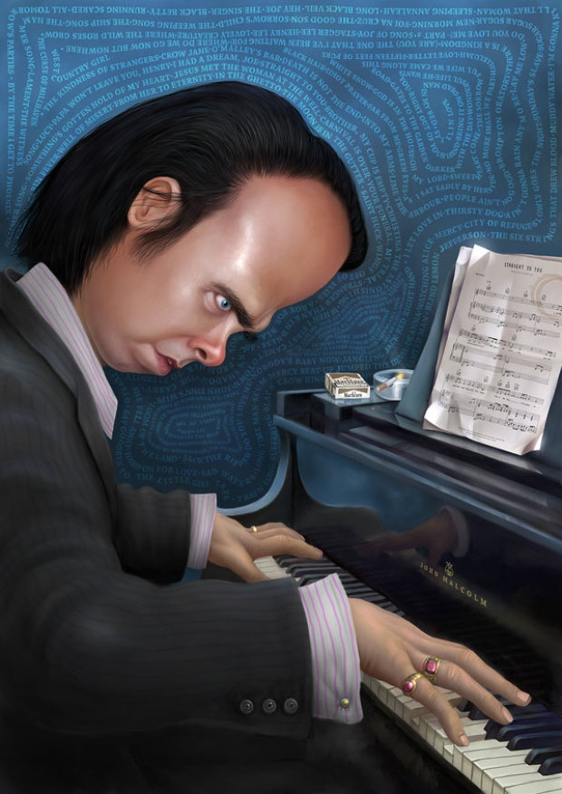 Caricatura digital - Nick Cave
