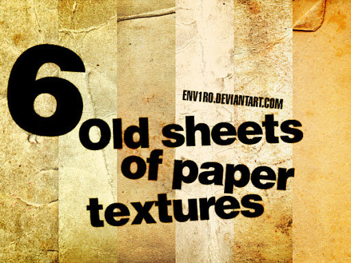 6 Old Sheets of Paper