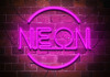 neon no photoshop banner