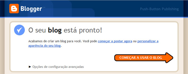 Blog no Blogger pronto