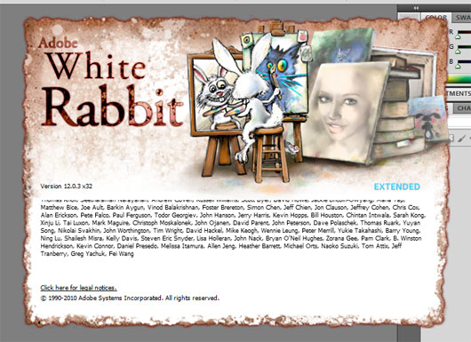 Photoshop easter egg white rabbit