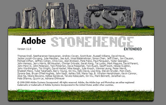 Photoshop CS4 Stonehenge