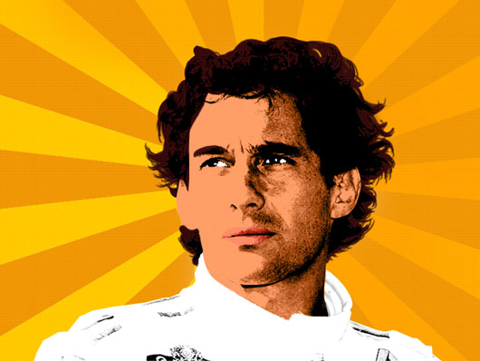 Ayrton Senna Pop Art, de l3m35