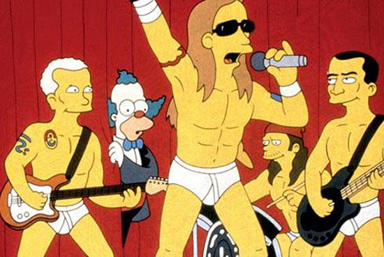 Red Hot Chili Peppers no seriado Simpsons