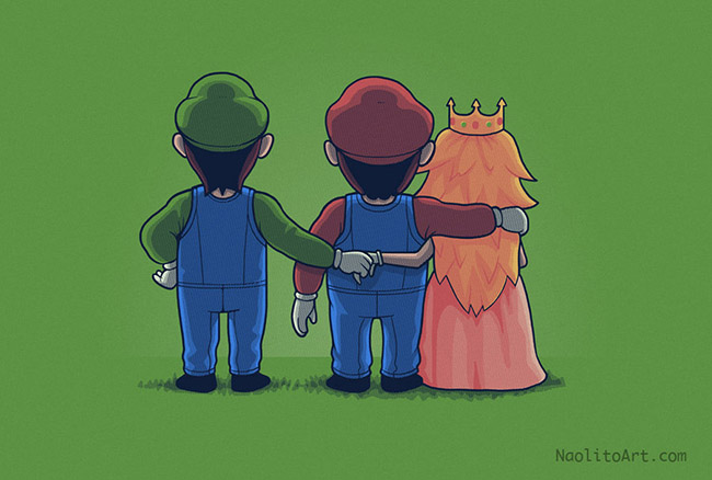 Secret Love Mario Luigi Peach