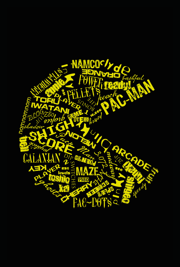 Pac Man Typography