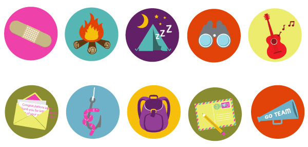 10 Band Camp Vector Badges