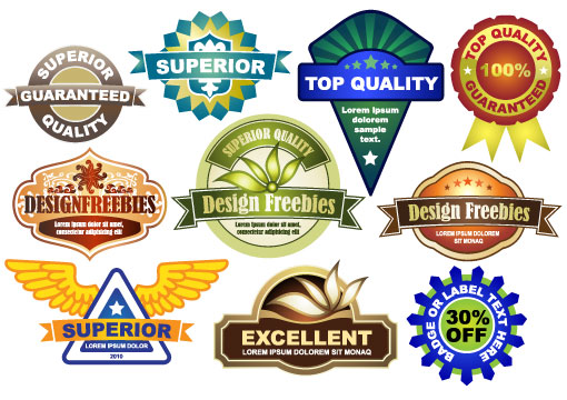10 Free Vector Badges