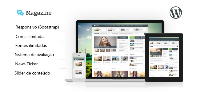 Magazine - tema responsivo multiuso para WordPress - Tutoriart
