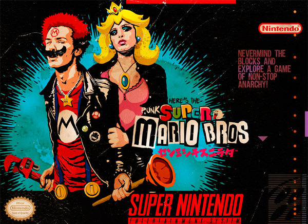billybutcher Punk Super Mario Bros caixa