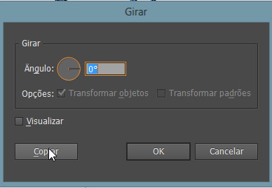 comando Girar do Illustrator