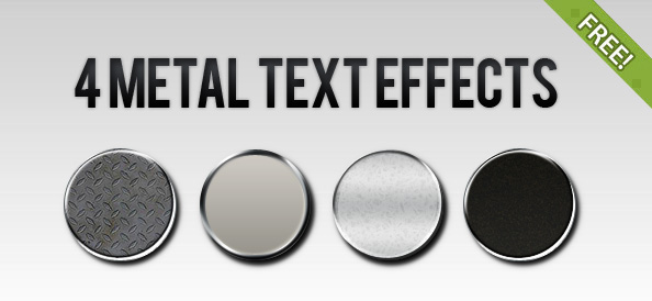 4 metal effects photoshop