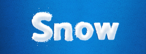 snow text style