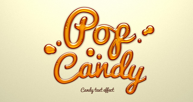pop candy sweet text effect type