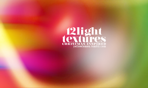 12 light textures christmas inspired