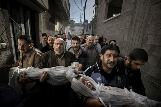 Paul Hansen, Gaza Burial