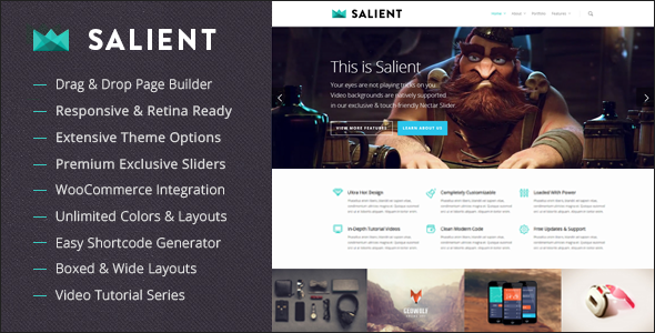 Salient - tema responsivo multi-uso para WordPress - Tutoriart