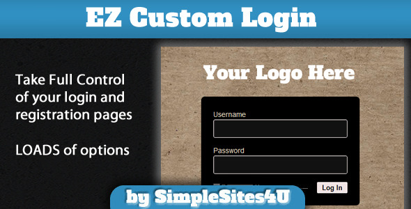 EZ Custom Login and Registration plugin WordPress