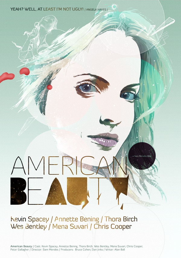 american beauty cartaz vetorial