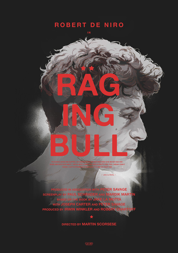 raging bull cartaz vetorial
