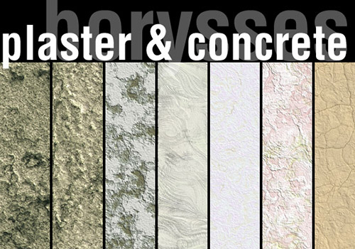 Plaster and concrete