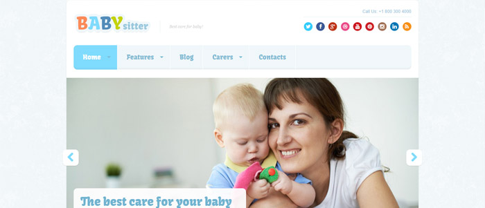 Babysitter template WordPress