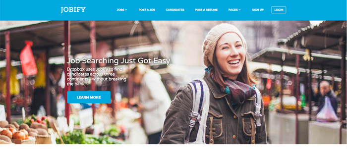 Jobify template WordPress