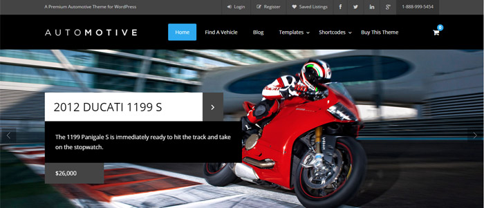 WP Automotive 2 template WordPress