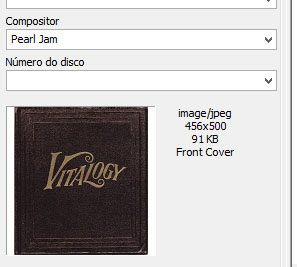 capa do disco localizada