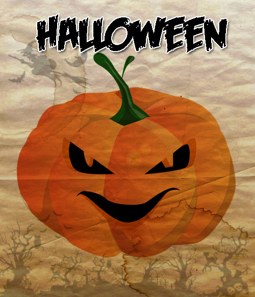abobora halloween photoshop e illustrator