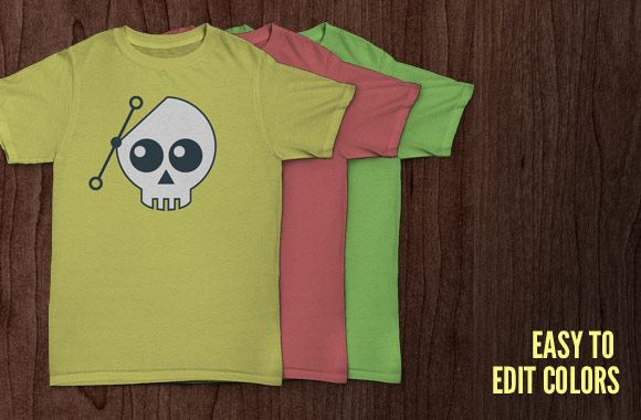 T-Shirt templates PSD