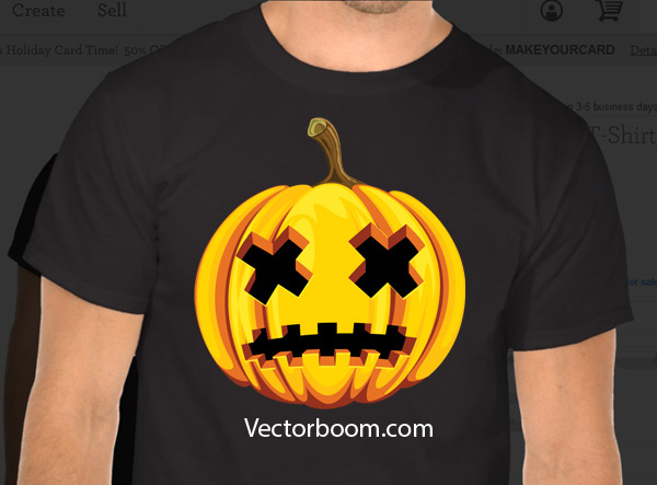 halloween camiseta illustrator
