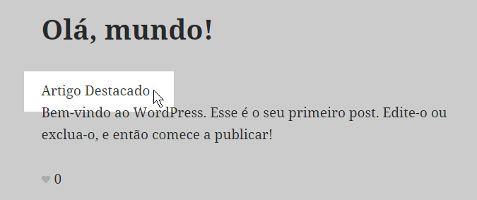artigo destacado wordpress
