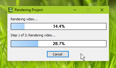 camtasia rendering bar