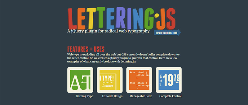 jquery_lettering